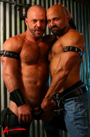 Two hot little hairy muscle men