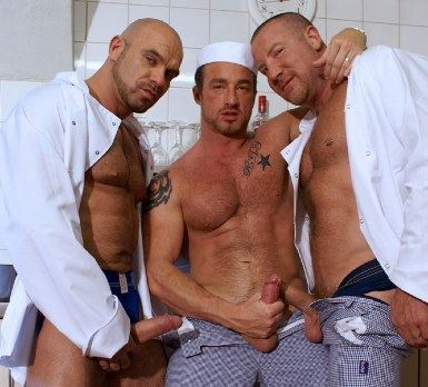 three hot chefs