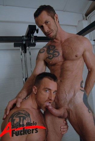Ross Hurston and Rocco Banks play around int he gym