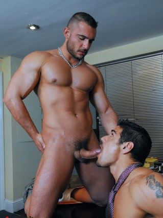 Beefy Pedro getting his cock sucked