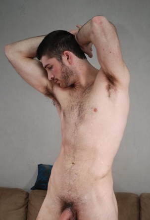 Furry young stud Dan dripping with jizz