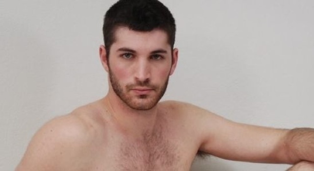 Furry young stud Dan Steel shirtless
