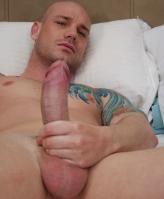 Kurt Rogers strokes his hard cock