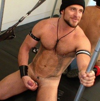 Hot furry guy jacks off his hard dick
