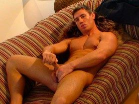 Hunky Rick Bauer jacks his dick