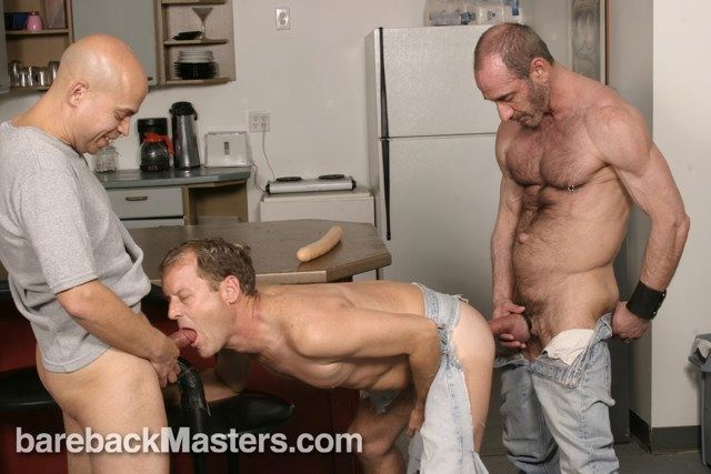 Jeff Campbell getting fucked by poz daddy Anthony DeAngelo and fed by Randy Summers