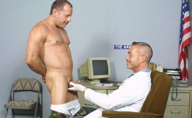 Cameron has his thick cock examined by the Dr.