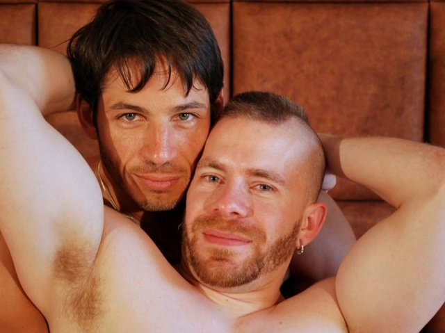 Furry ginger Butch Bloom and Joey Milano