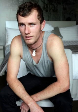 Hot scruffy young guy in a tank top