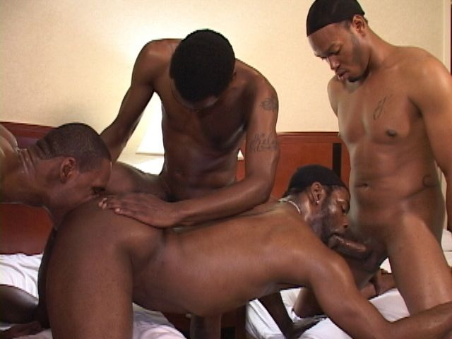 Three thugs use Trini's hot ass and mouth