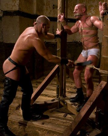 booted master flogs bound slave
