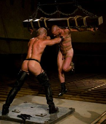 booted master swings bound slave