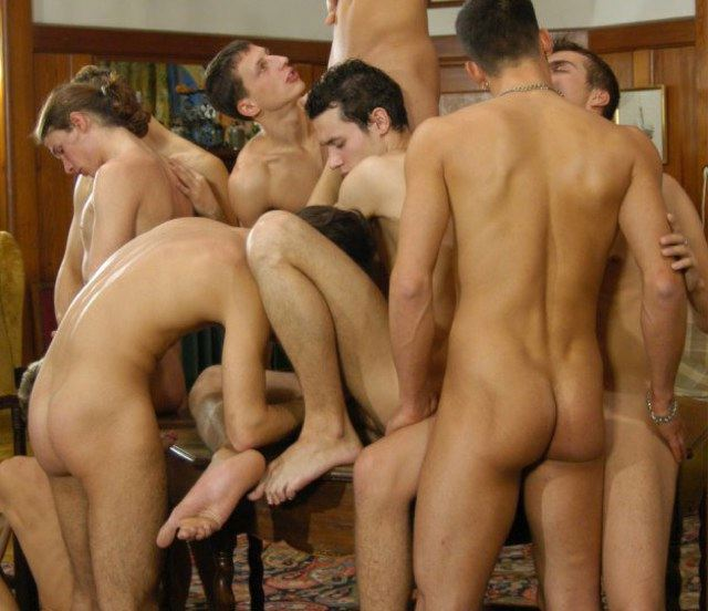 Hot young guys with hard asses suck cock