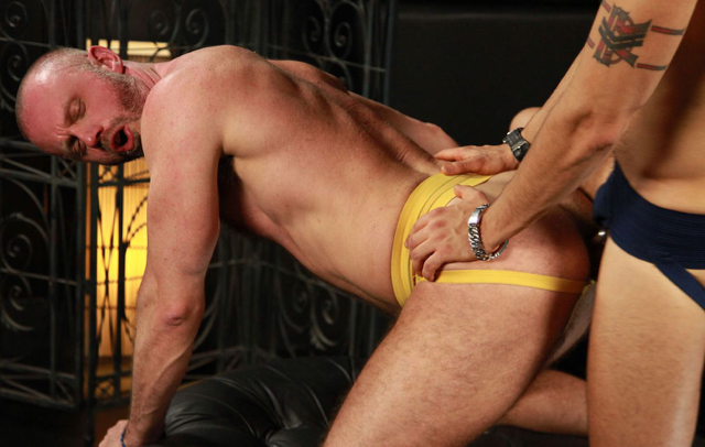 Daddy Freddy Miller on all fours getting fucked