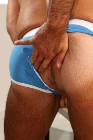 Furry beefy jock ass and tight pink hole