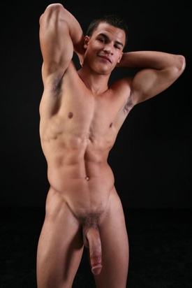 Hot Mixed Race Stud Shows off