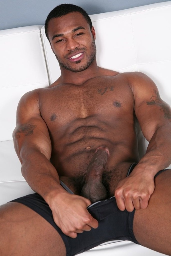Naked hot black guy