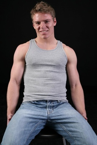Hot young blond college jock
