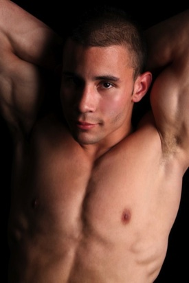 Hot young jock shows off his arm pits
