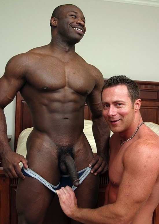 Black naked muscle men