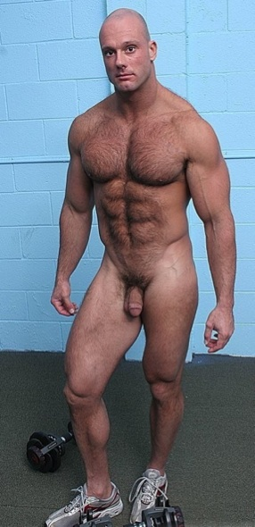Buff guy shows off his hot body
