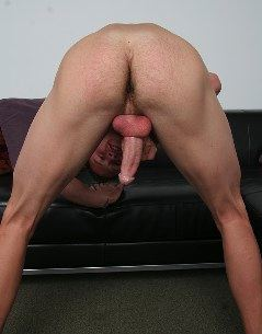 Hunk showing ass and cock