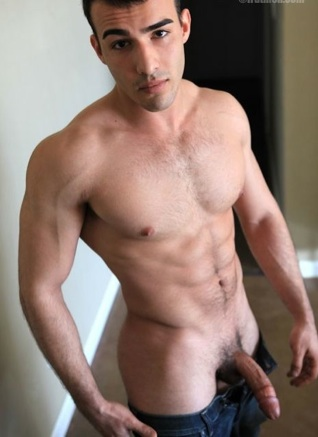 Furry young jock with a big dick