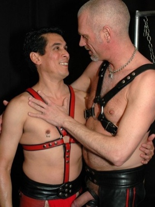 Leather boys Tony Ryder and Redright