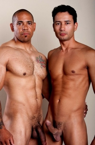 Juan and Gabrial show their thick cocks