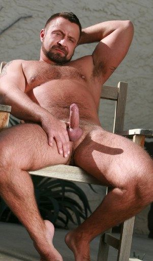 humpy daddy bear showing little hard on and armpit