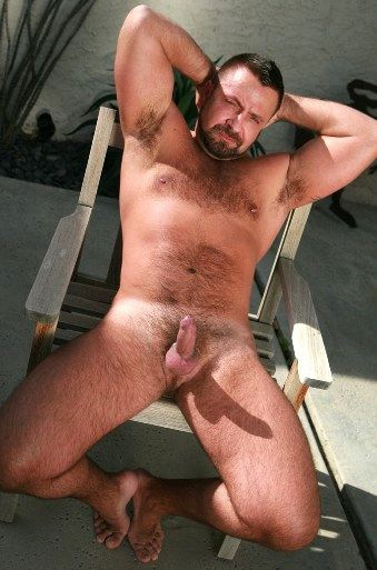hairy daddy showing little dick hard on and full body