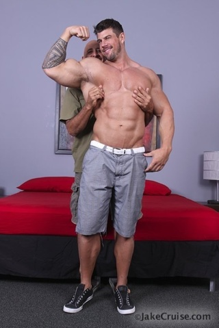 zeb shows off his biceps.