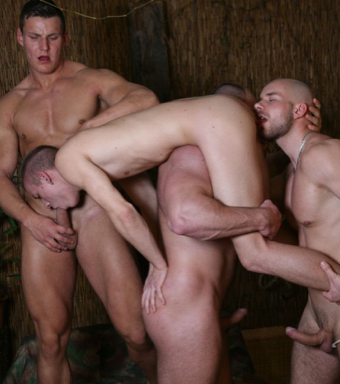 Naked boy gets abducted and used by hot muscle men
