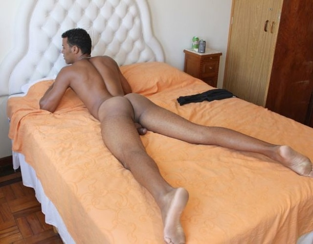 Smooth Latin twink with nice round bubble ass