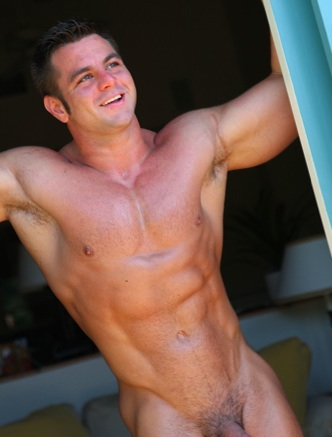 Muscle stud Frank Defeo smiles