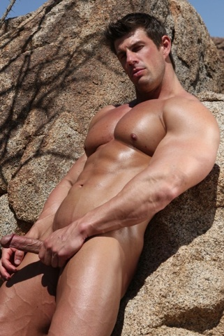 Muscular Zeb Atlas shows off nice cock and huge legs