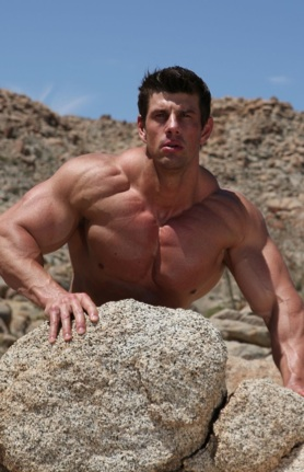 Body builder Zeb Atlas shows off his Muscular upper body