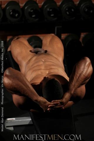 Cuerpo definido, musculoso y negro de Alan