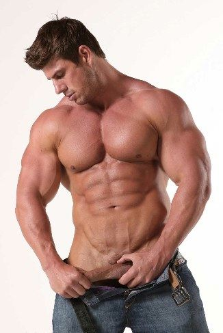 Zeb Atlas strokes his cock