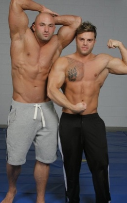 Sean and Jason Flexing for the camera