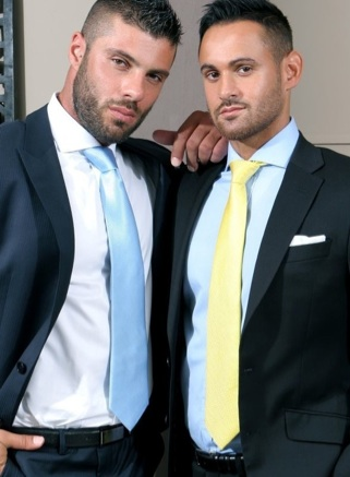 Alex Marte and Marco Wilson in suits