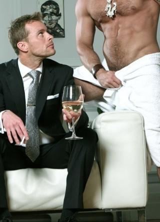 Neil Stevens ready for a good time with a hot hairy guy