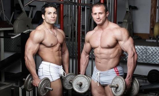 Muscular Jocks Jerking Each Other