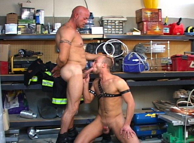 Dillon forces Scott further down on his hard dick