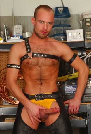 Leather boy Scott Campbell