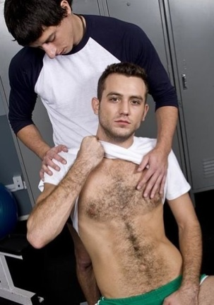 Hairy bodied guy gets rubbed by a smooth guy
