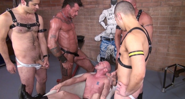 Ray Dalton feeds Patrick a load of warm piss