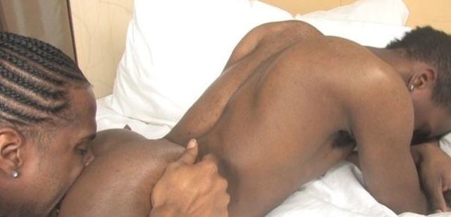Gay black ass eating porn