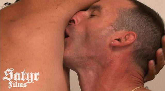 Guy forced to smell another guy's stinky armpit
