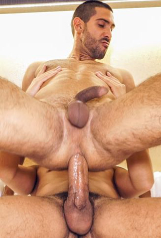 Middle Eastern guy getting fucked by a big dick